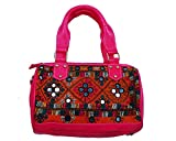 KDHS Embroidered Gypsy Multicolor Women's Polyester Double Handle Tote Bag LUSA-00102