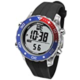 Pyle Waterproof Underwater Snorkeling & Diving Multi-Function Water Sport Wrist Watch with Dive Mode, Chronograph, Stopwatch, Water Temperature, Dive Depth & Duration, Black