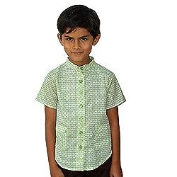 Aummade Baby Boys' Shirts (Aummade022_Green_12-18 months)