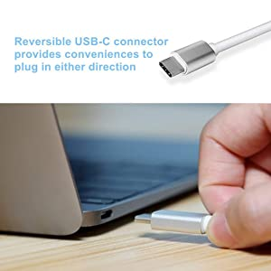 USB-C to VGA Adapter, Bincolo USB 3.1 Type C (Thunderbolt 3) to VGA Converter Compatible with MacBook Pro, New MacBook, MacBook Air 2018, Dell XPS 13/15, Surface Book 2 and More