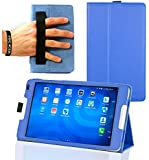 """Navitech Blue Faux Leather Case Cover With Stand For TheEE Eagle 4G Tablet 8 """""""