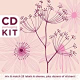 CD Packaging Kit--Petals in Pink: Mix & match 25 labels and sleeves, plus dozens of stickers! ~ Anja Kroencke