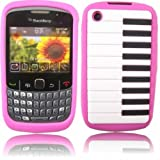 Piano Silicone Case Cover Skin For Blackberry 8520 9300 Curve / Pink