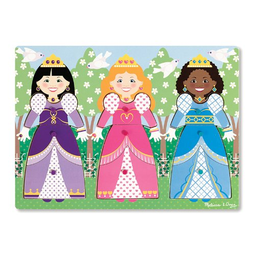 Dress Up Princesses Peg Puzzle back-343140