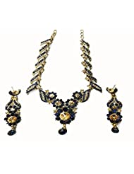 Sneh Marvellously Crafted Blue Stone Necklace Set For Women