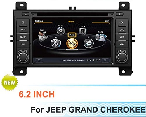 Car Dvd Player Navigation System For Jeep Grand Cherokee 2011-2013 With Steering Wheel Control/3D Navigation Dvd Tv Usb Sd Ipod Bluetooth 3G/Wifi/20 Disc Cdc/ Dvd Recording/ Phonebook / Game (Original Factory Pannel Design,Free Map) front-64454