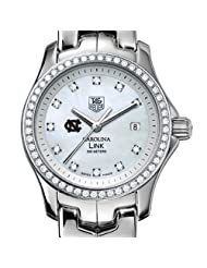 Special Price UNC TAG Heuer Watch - Women's Link Watch with Diamond Bezel at M.LaHart