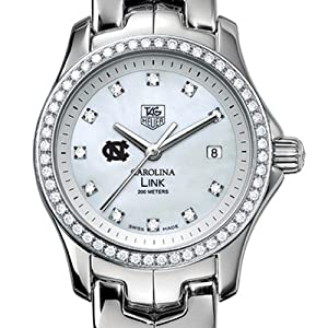 UNC TAG Heuer Watch - Ladies Link Watch with Diamond Bezel at M.LaHart by TAG Heuer