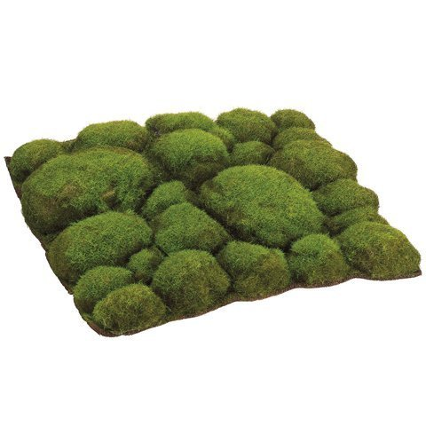 "12""Wx12""L Mood Moss Artificial Topiary Mat (case of 6) by SilksAreForever"