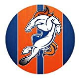 Round Mouse Pad with Broncos poster designed by padcaseskingdom
