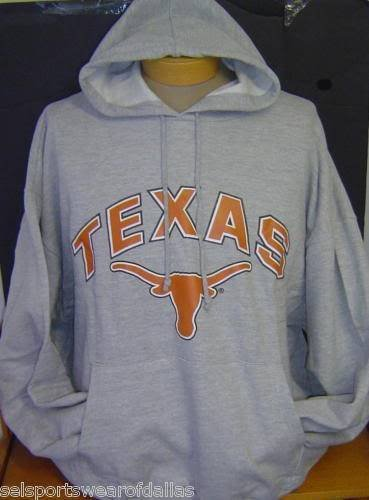 New! Gray NCAA University of Texas UT Longhorns Pullover Hoodie at Amazon.com