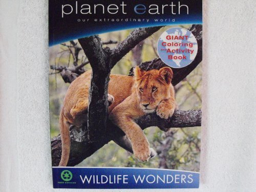 Planet Earth our Extraordinary World ~ Wildlife Wonders Coloring & Activity Book ~ Lion Cover - 1