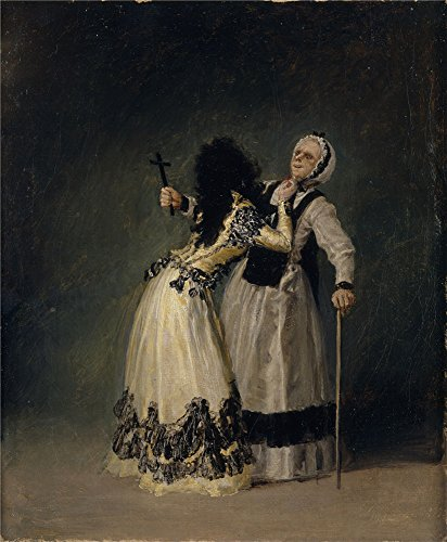 Polyster Canvas ,the Replica Art DecorativeCanvas Prints Of Oil Painting 'Goya Y Lucientes Francisco De La Duquesa De Alba Y Su Duena 1795 ', 20 X 24 Inch / 51 X 62 Cm Is Best For Bedroom Decor And Home Artwork And Gifts