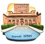 Alhambra Palace Granada Spain Citadel 3D Resin TOY Fridge Magnet Free Ship