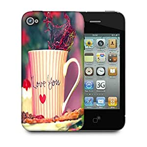 Snoogg Love You Mug Designer Protective Phone Back Case Cover For Apple Iphone 4