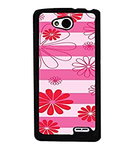 ifasho Designer Phone Back Case Cover LG L90 :: LG L90 Dual ( Yellow Pink Diamond Colorful Pattern Design )