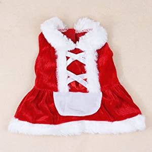 Christmas Dog Dress Cute Pet Costumes Pet Apparel for Small Dogs (XS) by Colorfulhouse