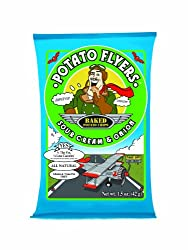 Potato Flyers Sour Cream & Onion, 1.5-Ounce Bags (Pack of 24)