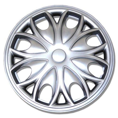 TuningPros WSC-526S15 Hubcaps Wheel Skin Cover 15-Inches Silver Set of 4 (Kia Rio 2013 Hubcaps compare prices)