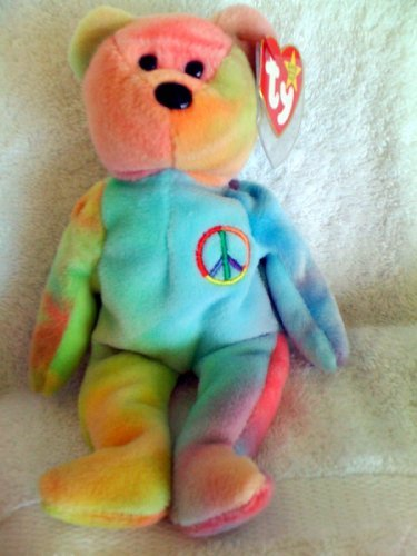 PEACE the Tye-Dye bear Ty Beanie Baby