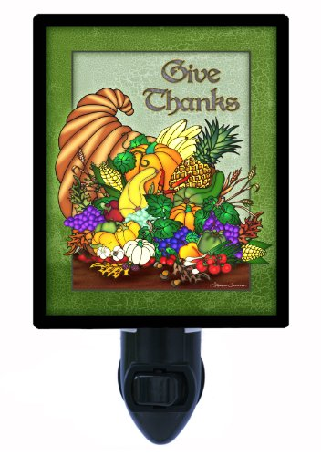 Thanksgiving Night Light - Give Thanks front-1037062