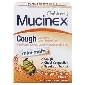Mucinex Children's Cough Mini-Melts, Orange Cream, 12-Count (Pack of 2)