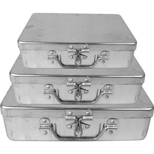 Trademark ToolsTM 3 Pc Aluminum Storage Box w/ Lockable Clasp (Metal Organizer Box compare prices)