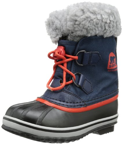Sorel Boys Yoot Pac Nylon Snow Boots Blue Blau (Collegiate Navy, Sail Red 464) Size: 31
