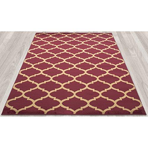 Ottomanson Royal Collection Contemporary Moroccan Trellis Design Area Rug, 5'3