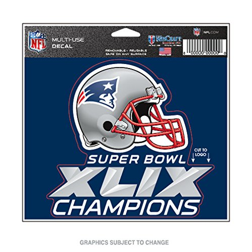 New England Patriots Official NFL 4.5 inch x 6 inch Super Bowl 49 Champions MultiUse Car Decal by Wincraft (Super Bowl Merchandise Patriots compare prices)