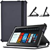 CaseCrown Ace Flip Case Cover (Cool Water) with Elastic Band Closure for Amazon Kindle Fire