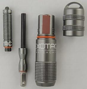 Bundle - 2 Items: Exotac nanoSTRIKER Firestarter and Exotac MATCHCAP Survival... by Exotac