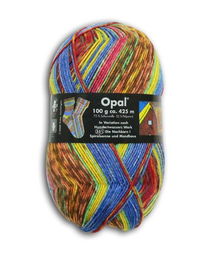 OPAL 靴下用毛糸 2100_Hundertwasser (フンデルトヴァッサー) 100g/玉, 425m
