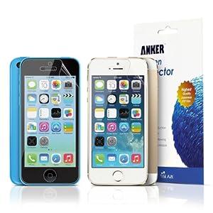 Anker® Glaze Films de protection d'écran (Anti-Reflet) pour iPhone 5S /iPhone 5C / iPhone 5 [3-Pack]- Haute transparence - Retail Packaging - Durée de vie