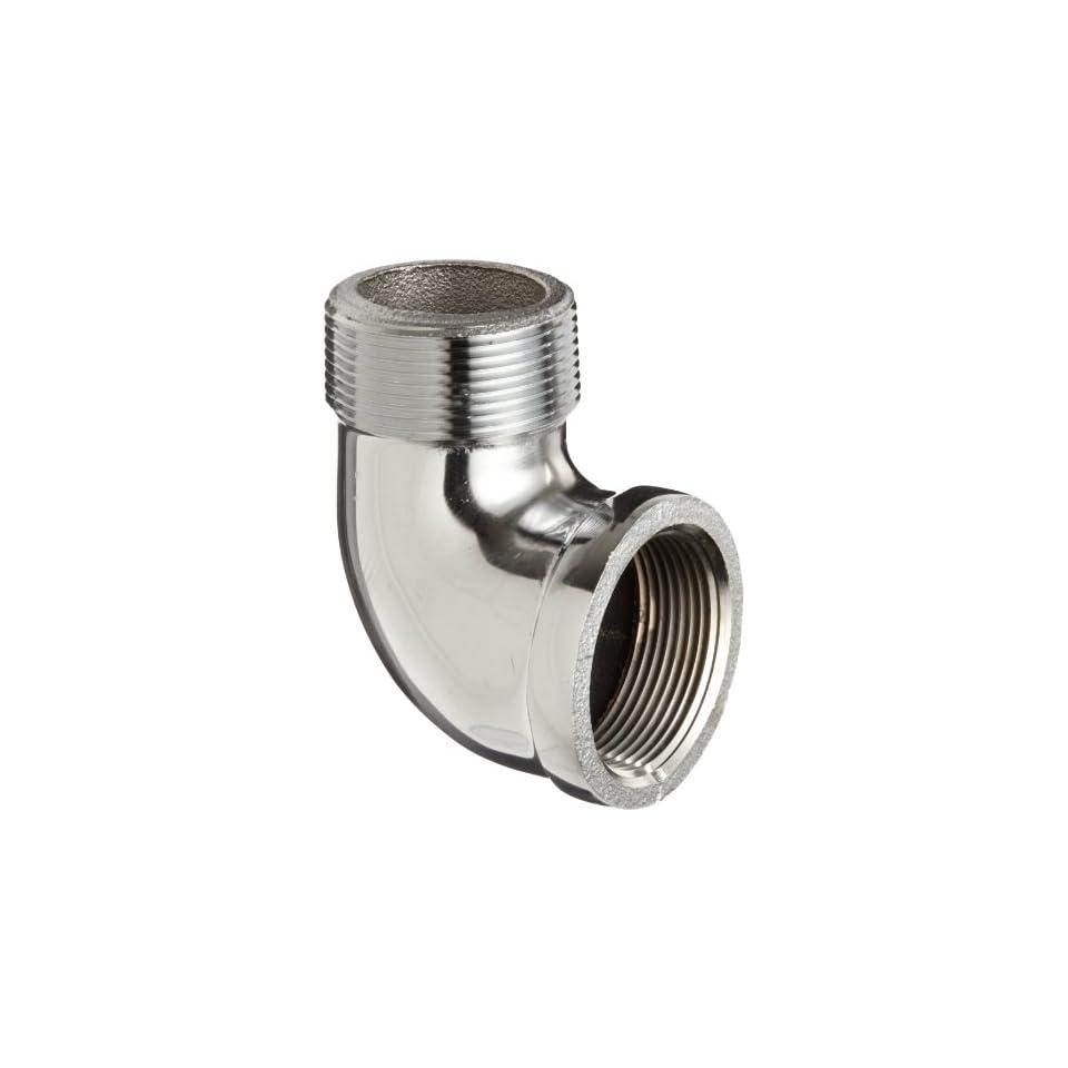 Brass Pipe Fitting, 90 Degree Street Elbow, 1/2 NPT Male x Female