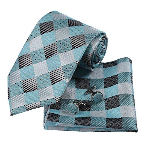 DAD3C-Evening-Checkered-Microfiber-Tie-Cufflinks-Handkerchief-Set-By-Dan-Smith