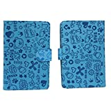 BRAIN FREEZER BIG TEDDY 7INCH FLIP FLAP CASE COVER POUCH CARRY FOR SPICE MOBILES STELLAR SLATEPAD CASE EXOTIC BLUE