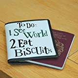 Bright Side Passport Cover - To Do See World Eat Biscuits