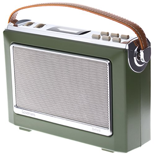 Goodmans OXFORD Vintage Style Digital & FM Radio - Moss Green