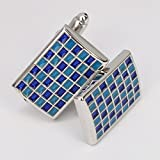 Pical Enamel Colorful Small Squares Grid Cufflinks
