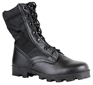 Maelstrom(R) COMMANDO 9'' Black Military Combat Boots - M1190 Size 6 Medium