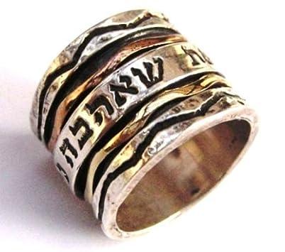 Spinner Wedding Bands 85 Good Hebrew Spinner Ring Sterling