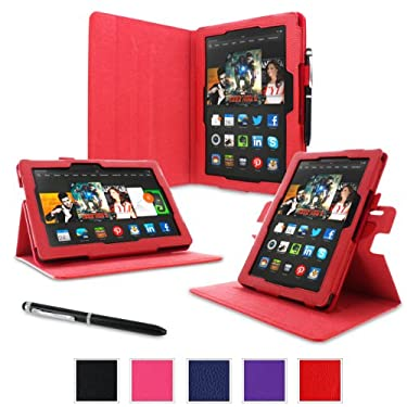 "rooCASE Case for Amazon All- Kindle Fire HDX 8.9 - Dual-View Folio Case HDX 8.9"" Tablet - RED"