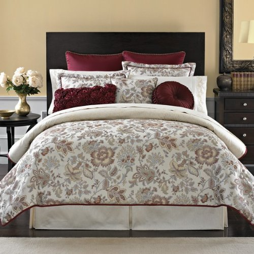 Croscill Romance Reversible European Sham Crimson / Cream front-880758