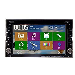 See Best Quality!Car Video Players with GPS Navigation 6.2 Inch Double Din Car Radio Stereo PC Vehicle Bluetooth Ipod Auxiliary Details