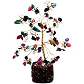 Satyamani Natural Multi Wide Crystal Tree For Seven Chakra (Small)