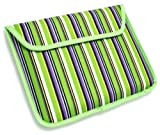 Emartbuy New Apple Ipad 3 & Apple Ipad 2 Candy Stripes Green Soft Velcro Sleeve/Case/Cover (All versions Wi-Fi and Wi-Fi + 3G/4G - 16GB 32GB 64GB)