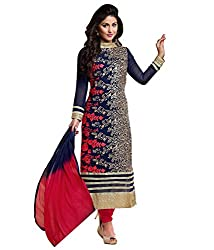 Heena Blue Georgette Salwar Suit