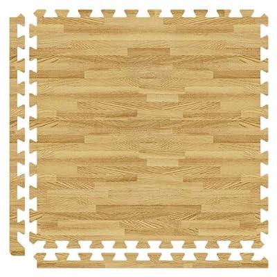 Alessco SWLO1010 Softwoods Tile Set, 10' x 10', Light Oak