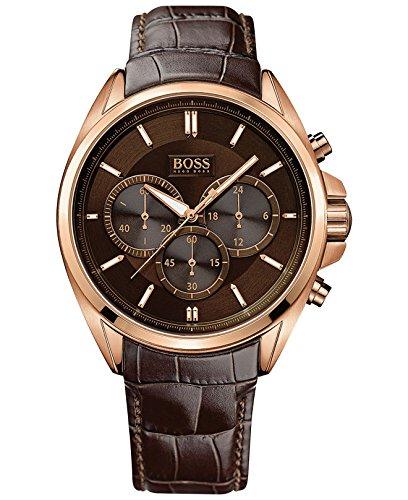 Reloj de los hombres de cuero de Hugo Boss 1513036